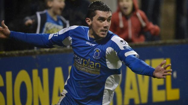 Defender Emmett Friars scored the only goal at Stangmore Park as Dungannon Swifts beat Lisburn Distillery