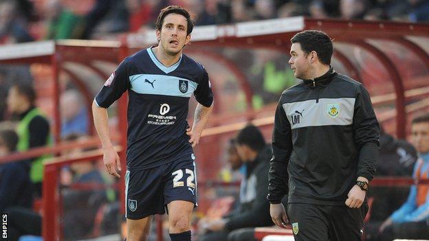 Burnley midfielder Brian Stock