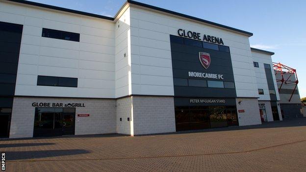 Globe Arena, home of Morecambe