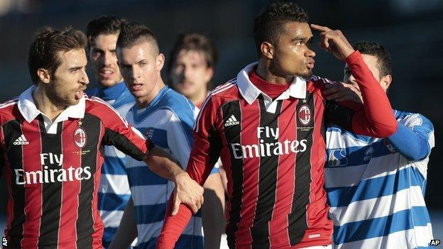 Kevin-Prince Boateng walks off the pitch