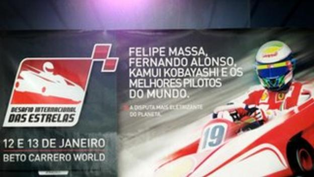 The poster for Felipe Massa's charity karting event