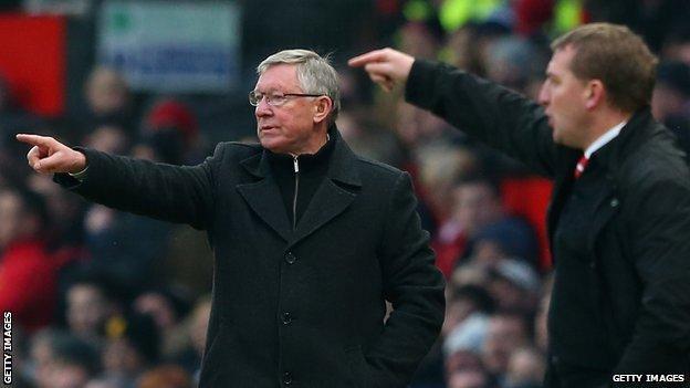 Sir Alex Ferguson (left) and Brendan Rodgers