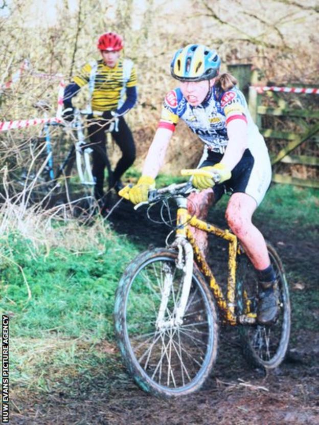 Nicole Cooke was competing for honours in junior mountain-biking