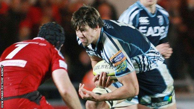 James Down in action for the Blues
