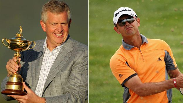 From left: Colin Montgomerie and Andrew Coltart