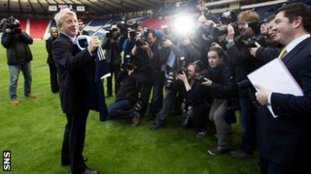 Gordon Strachan at Hampden Stadium