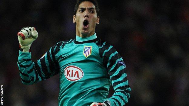 Atletico Madrid keeper Joel Robles