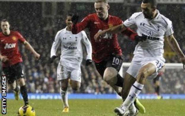 Wayne Rooney goes to ground