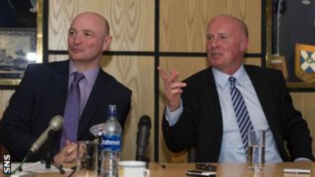 Stephen Thompson (left) and Peter Houston