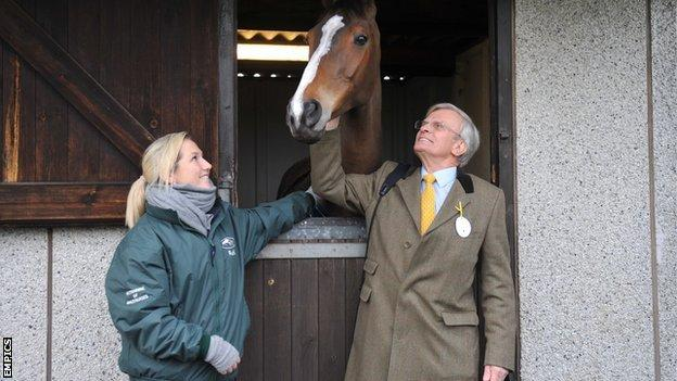 Kauto Star with Laura Collett and owner Clive Smith