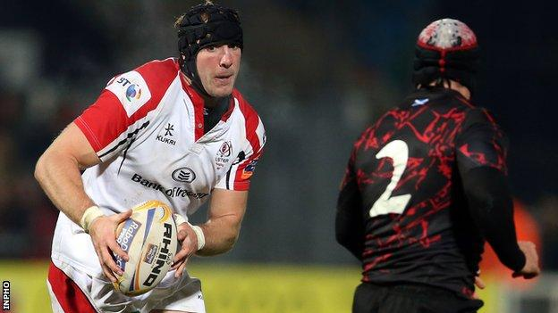 Stephen Ferris was injured in the Pro12 game against Glasgow in early November