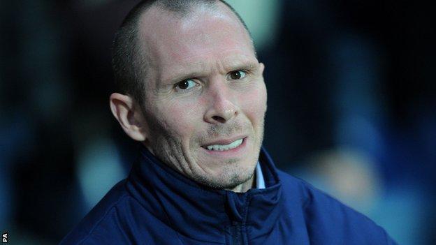 Blackburn manager Michael Appleton