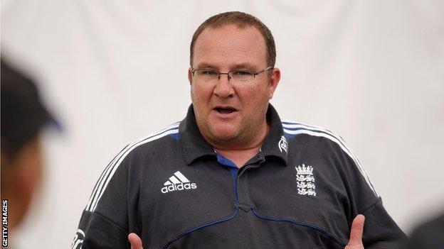 England women's cricket coach Mark Lane