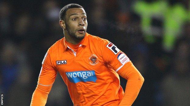 Blackpool winger Matt Phillips