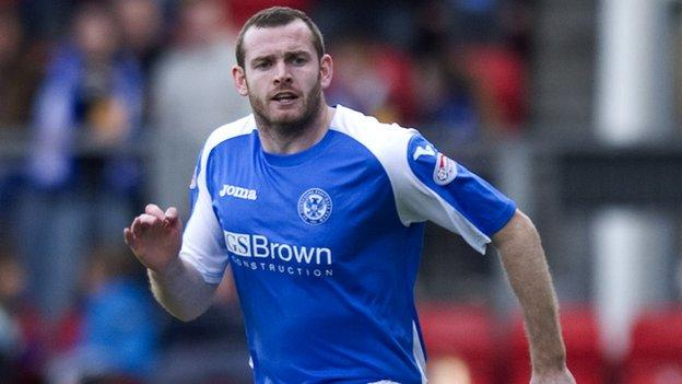 Craig Beattie playing for St Johnstone