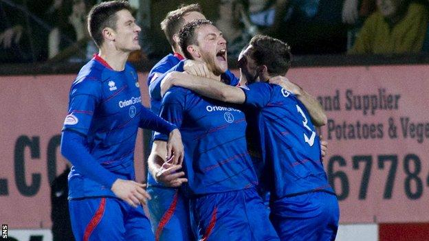 Inverness sit second in the Scottish Premier League