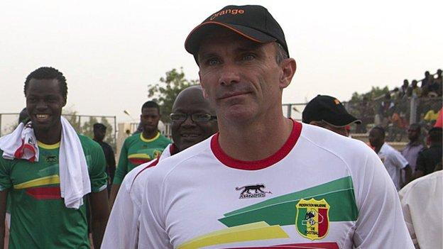 Mali coach Patrice Carteron