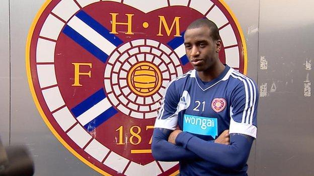 Hearts loan signing Michael Ngoo