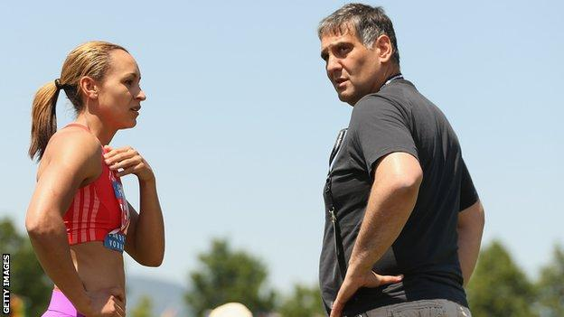 Jessica Ennis and coach Toni Minichiello