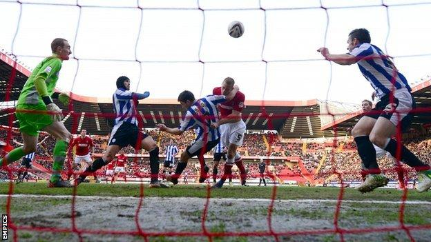 Sheffield Wednesday defend their goal