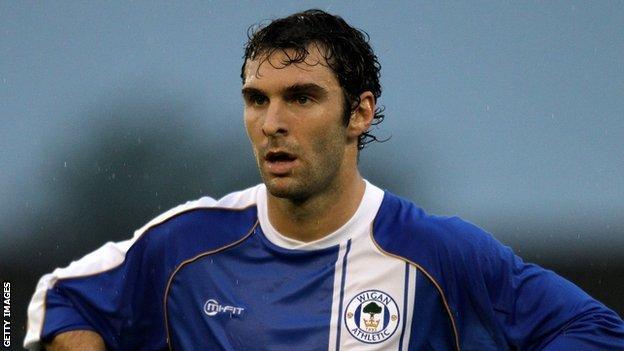 Wigan forward Mauro Boselli