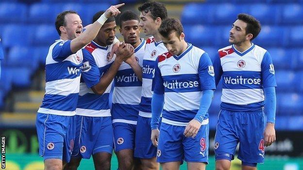 Reading players celebrate