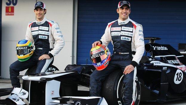 Bruno Senna and Pastor Maldonado