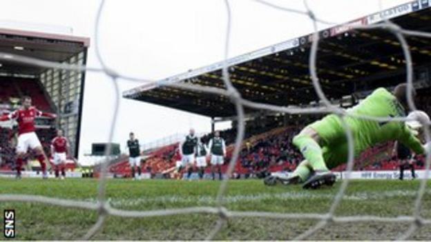 Ben Williams saves a Niall McGinn penalty