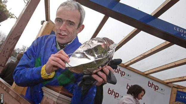 Ruby Walsh after winning the 2013 Irish Champion Hurdle on Hurricane Fly