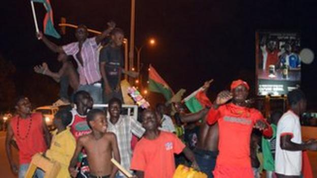 Burkina Faso fans took to the streets of the capital Ouagadougou to celebrate their historic win over Ethiopia