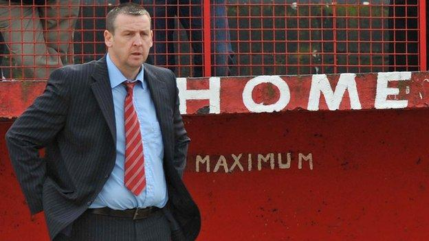 Graham McConnell is in his second spell as manager of Larne