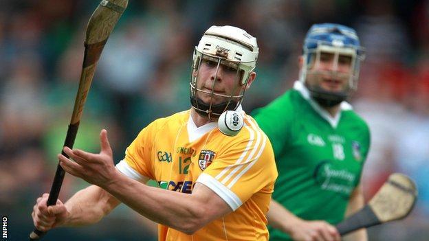 Neil McManus in action for Antrim