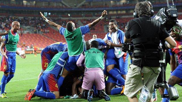 Cape Verde celebrate their historic win