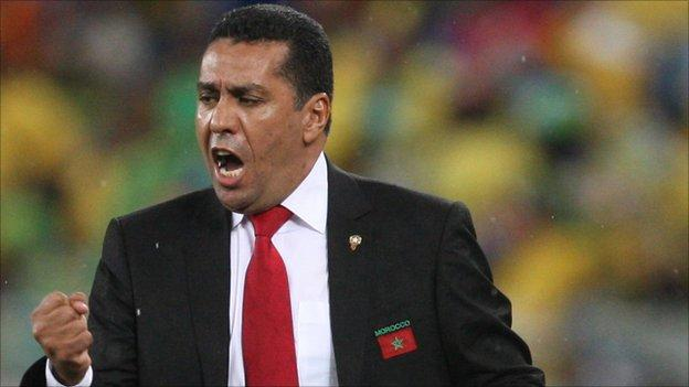 Morocco coach Aachid Taoussi