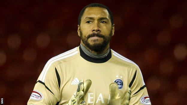 Goalkeeper Jason Brown