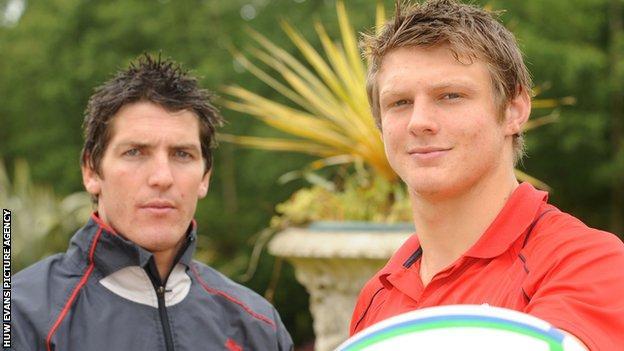 James Hook and Dan Biggar