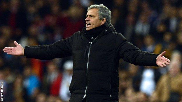 Under-pressure Real Madrid boss Jose Mourinho