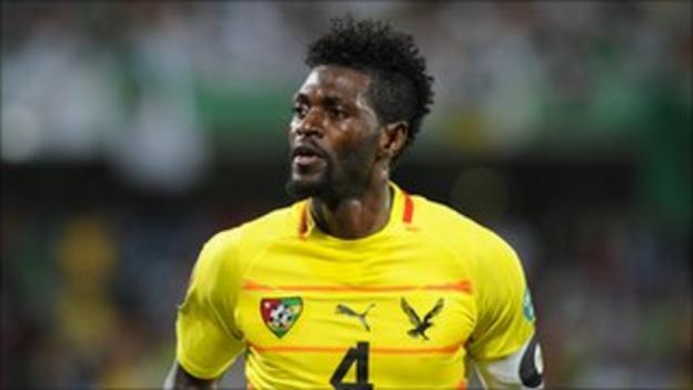Emmanuel Adebayor is Togo's talisman