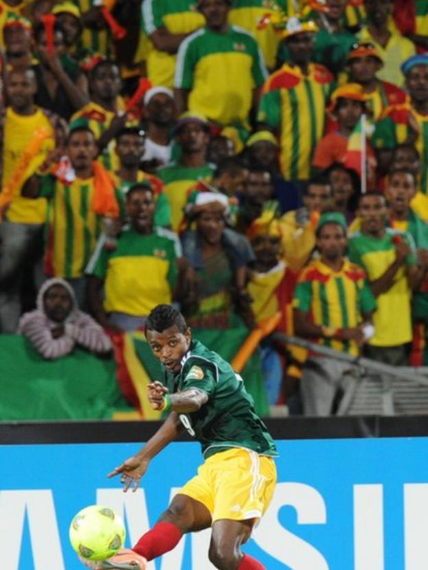 Ethiopia's forward Getaneh Kebede