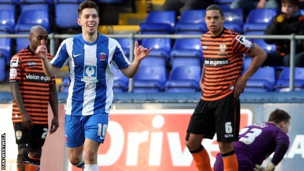 James Poole put Hartlepool ahead