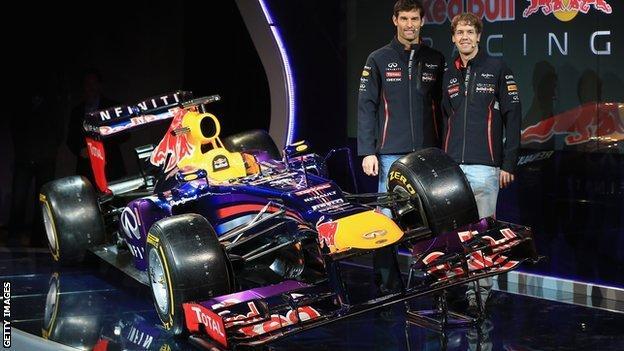 Red Bull's RB9 car