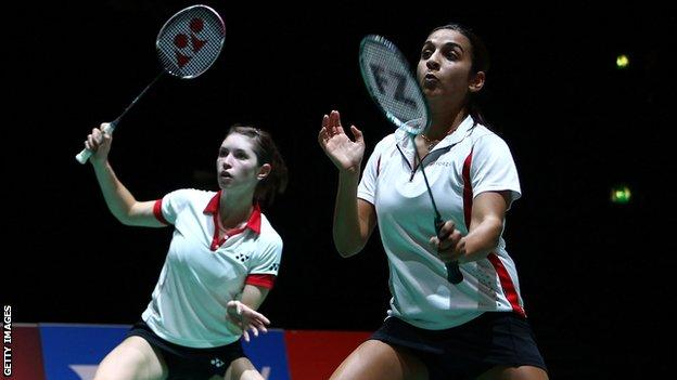 Mariana Agathangelou (right), and Heather Olver, lost in the final