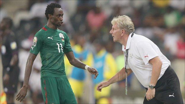Paul Put, Burkina Faso coach (r)