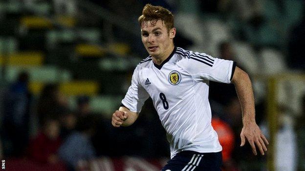 Scotland under-21 international Fraser Fyvie