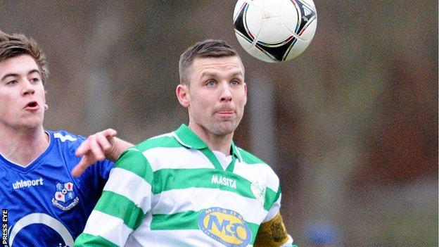 Raymond Fitzpatrick headed in Lurgan Celtic's first goal