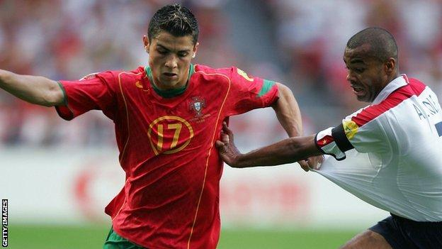 Cristiano Ronaldo and Ashley Cole