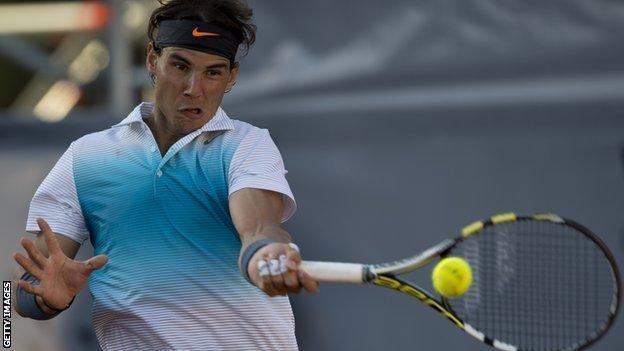 Rafael Nadal back in action