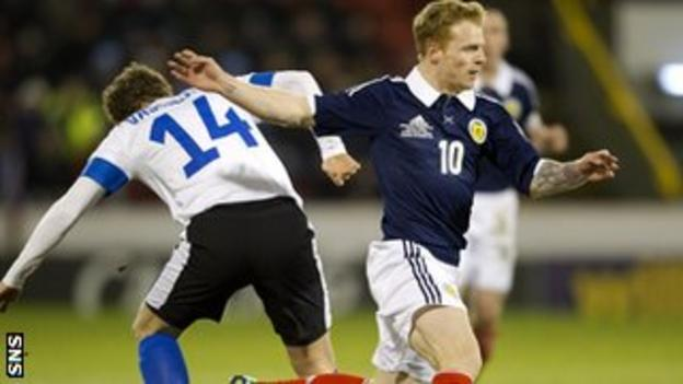 Chris Burke made a good impression during the first half at Pittodrie