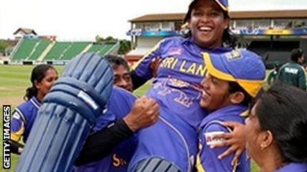 Sri Lanka celebrate after beating Pakistan in the World Twenty20