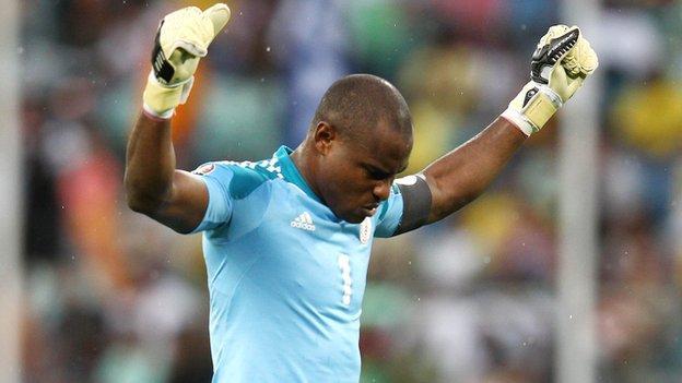 Nigeria goalkeeper Vincent Enyeama